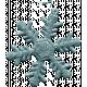 Frozen Snowflake- Glitter
