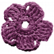 The Best Is Yet To Come- Purple Crocheted Flower