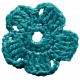 The Best Is Yet To Come- Blue Crocheted Flower