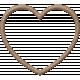 Be Mine- Brown Felt Heart Frame