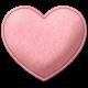 Be Mine- Pink Felt Heart