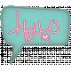 Hello!- Blue Talk Bubble