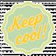 Sunshine & Lemons No2- Keep Cool Sticker