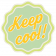 Sunshine & Lemons No2- Keep Cool Sticker