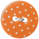 Oh Baby Baby- Orange Polkadot Button