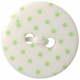 Oh Baby Baby- White & Green Polkadot Button