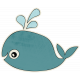 Beachy!- Whale Sticker