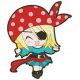 Arrgh!- Pirate Girl Sticker