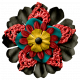 Arrgh!- Black & Red Stacked Flower