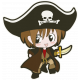 Arrgh!- Pirate Boy Sticker