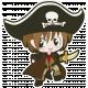 Arrgh!- Pirate Boy Sticker