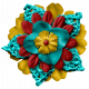 Arrgh!- Teal Stacked Flower