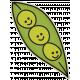 The Veggie Patch- Peas in Pod Sticker