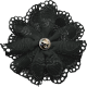 Ride A Bike- Fabric Flower- Black
