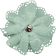Ride A Bike- Fabric Flower- Mint