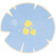 Brothers and Sisters-Flower Sticker Blue