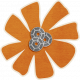 Brothers and Sisters- flower sticker orange