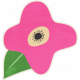 Brothers And Sisters- Flower Sticker Pink