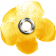 Sand And Beach- Fabric Flower Rivet Yellow