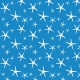 Sand & Beach- Starfish- Blue Paper