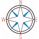 Sand & Beach- Compass- Nautical Stamp