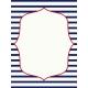 Sand & Beach- Nautical Stripes- Journal Card