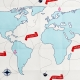 Sand & Beach- World Map- Paper