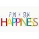 Sand & Beach- Fun + Sun- Journal Card