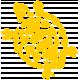 Sand & Beach - Yellow Turtle - Nautical Stamp