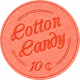 At The Fair- Cotton Candy Label