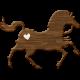 Blog Train | September 2014- Wooden Carousel Horse