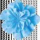 It's Elementary, My Dear- Blue Fabric Flower 02