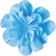 It's Elementary, My Dear- Blue Fabric Flower 02