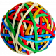 A Bouquet of Freshly Sharpened Pencils- Rubberband Ball