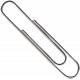 Reading, Writing, and Arithmetic- Large Silver Paper Clip
