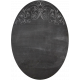 Reading, Writing, and Arithmetic- Oval Chalkboard