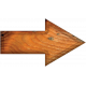 Blank Wood Arrow
