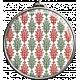 Damask Pattern Circle Pendant