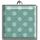Teal Polka Dot Square Pendant
