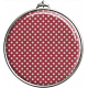 Round Red Polka Dot Pendant