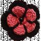 Red Crochet Flower