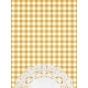 Yellow Gingham and Doily Journal Card
