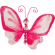 Tiny, But Mighty- Pink Nylon Butterfly