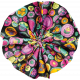 Tiny, But Mighty Rainbow Accordion Fabric Flower