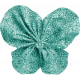 Tiny, But Mighty Teal Fabric Butterfly