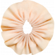 Tiny, But Might Peach Accordion Fabric Flower 02