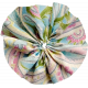 Tiny, But Mighty Rainbow Accordion Fabric Flower 02