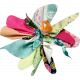 Tiny, But Mighty Multi Colored Fabric Flower 03