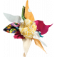 Tiny, But Mighty Multi Colored Fabric Flower 04