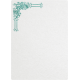 Tiny, But Mighty Teal Embellished Note Paper